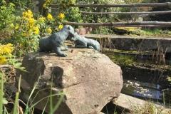 Brunnen mir Bronzefiguren